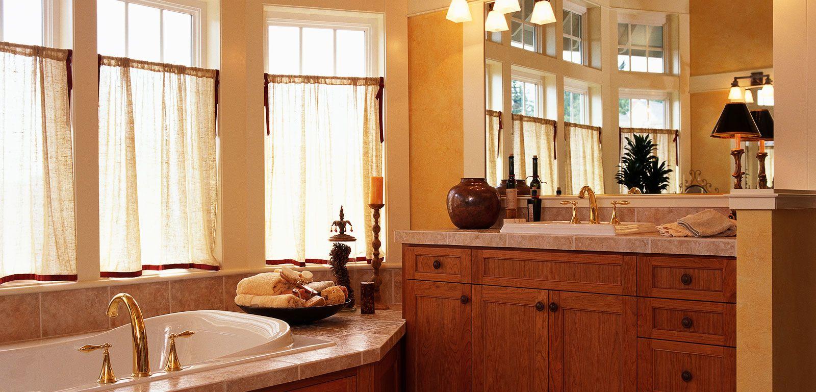 Luxury bathroom with bathtub