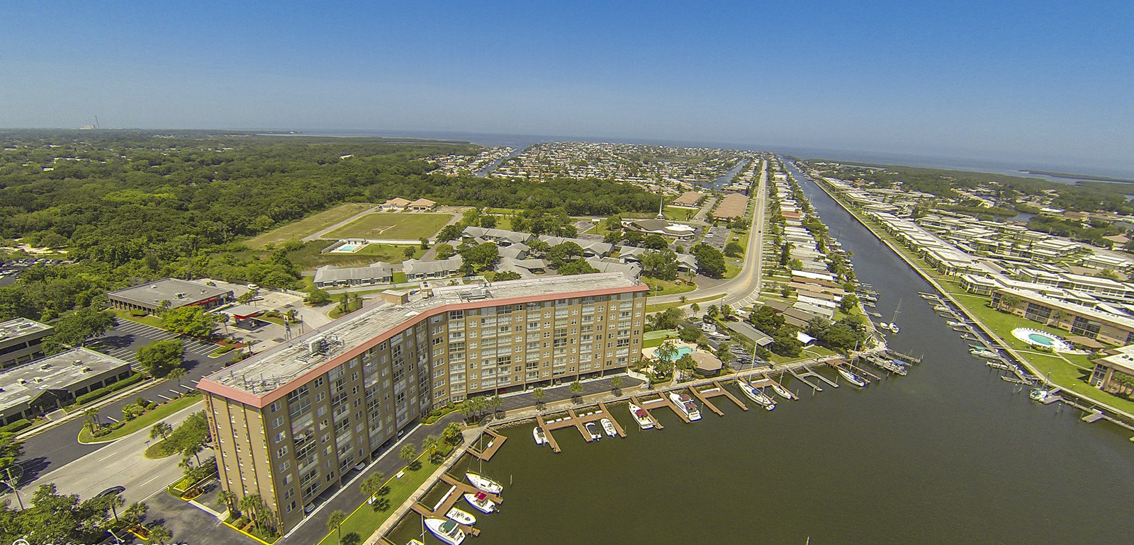 Gulf Harbors neigborhood aerial photo