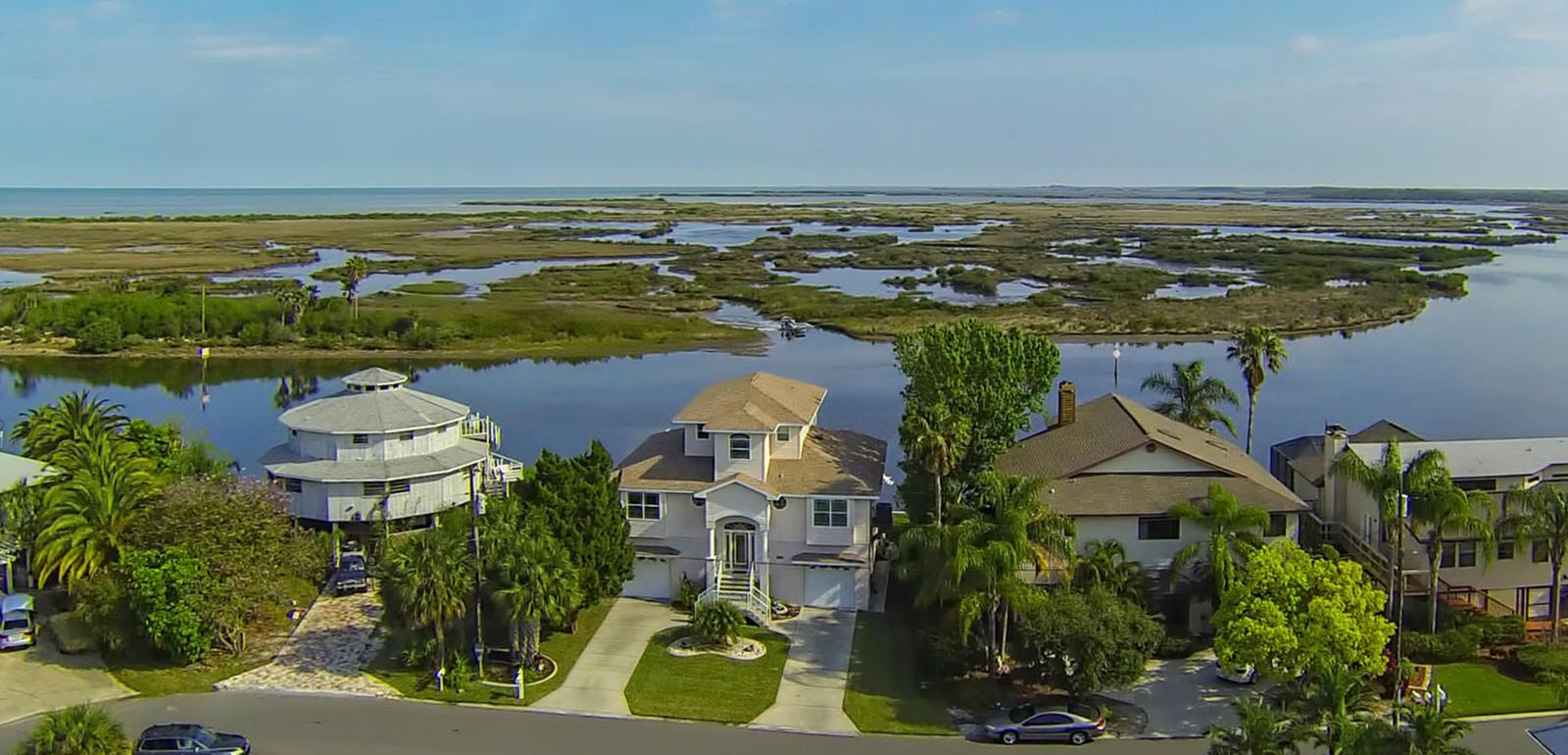 Hernando Beach - houses aerial photo