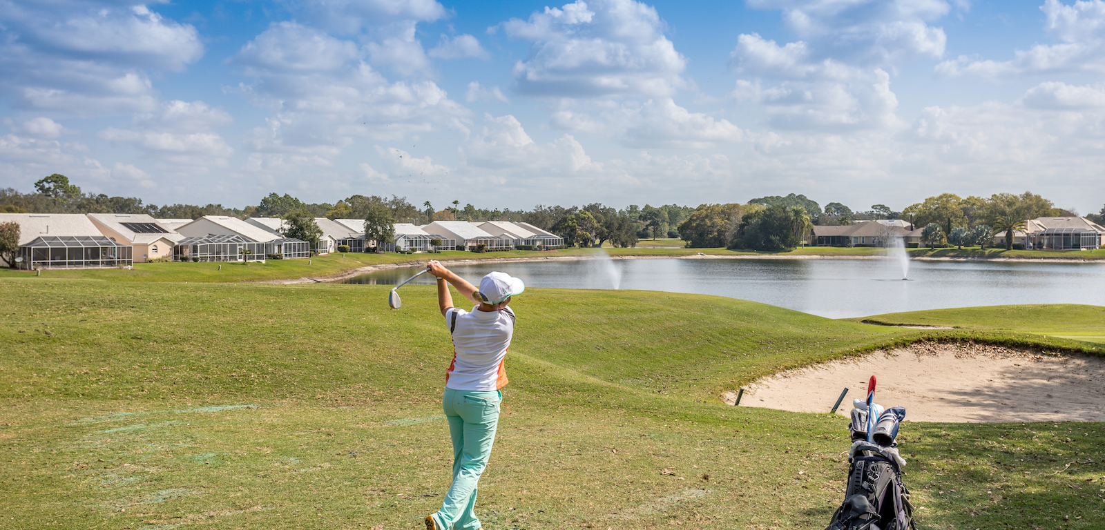 Golfing - golf course