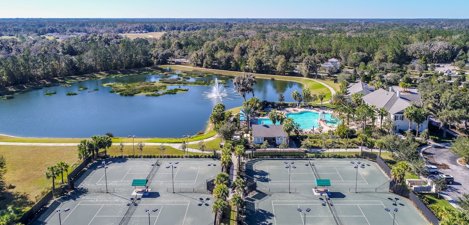 Southern Hills - Golf community outdoor tennis courts