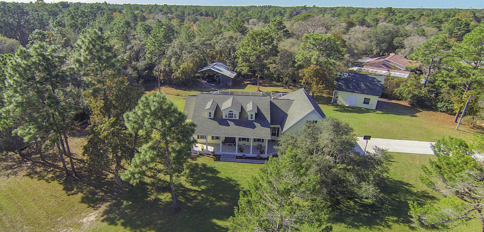 Ranches - aerial photo of a house