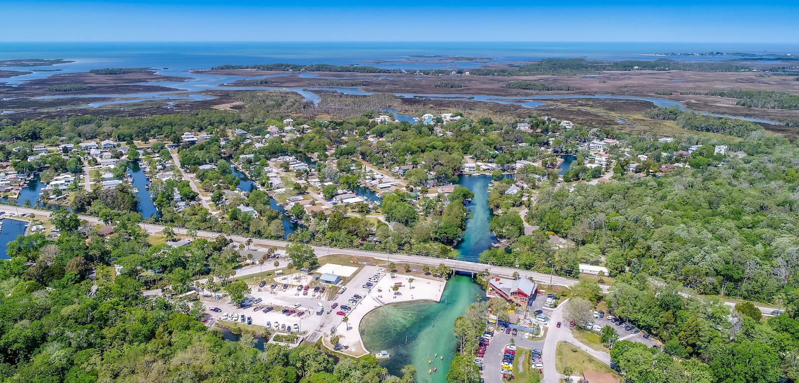 Weeki Wachee neighborhood aerial photo