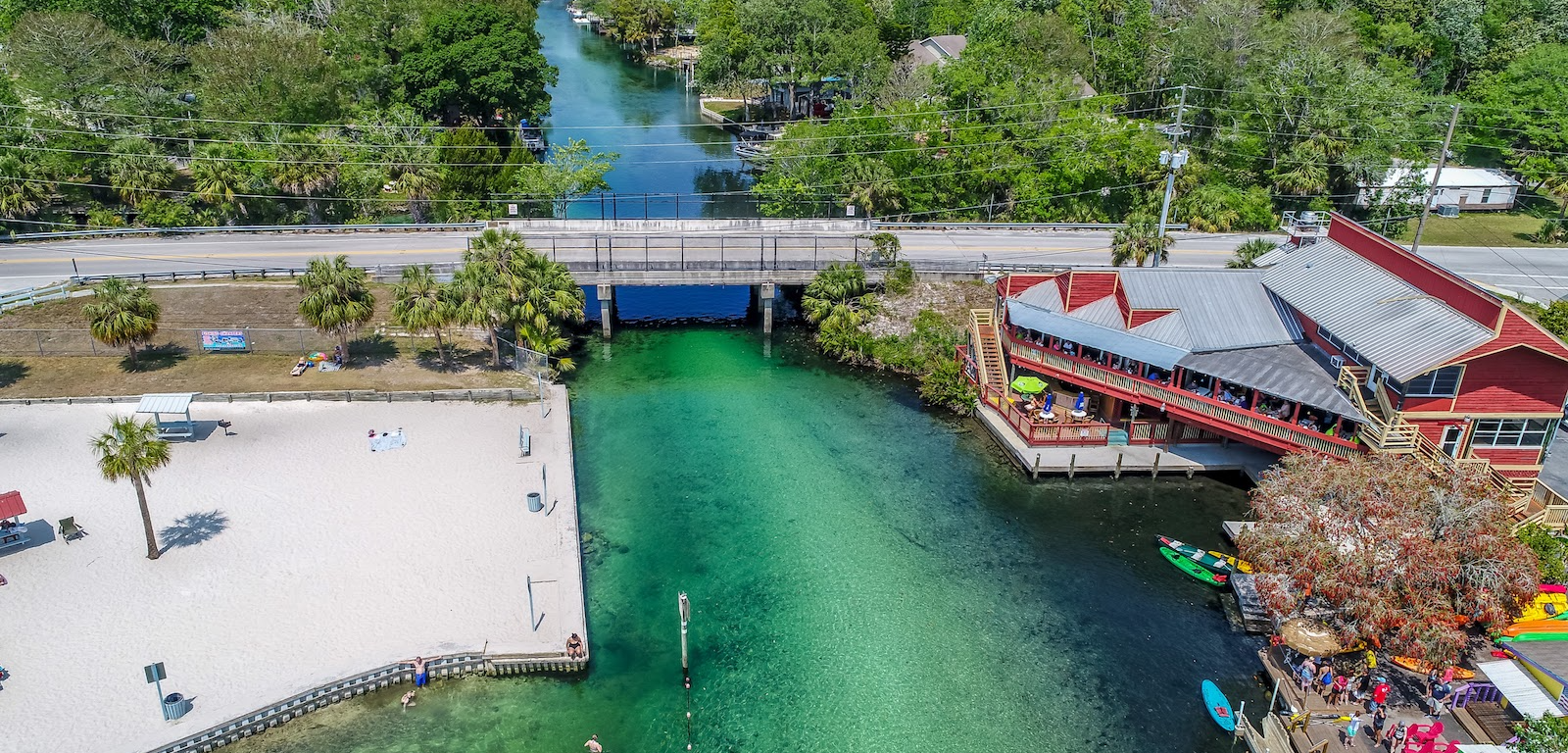Weeki Wachee bridge aerial photo