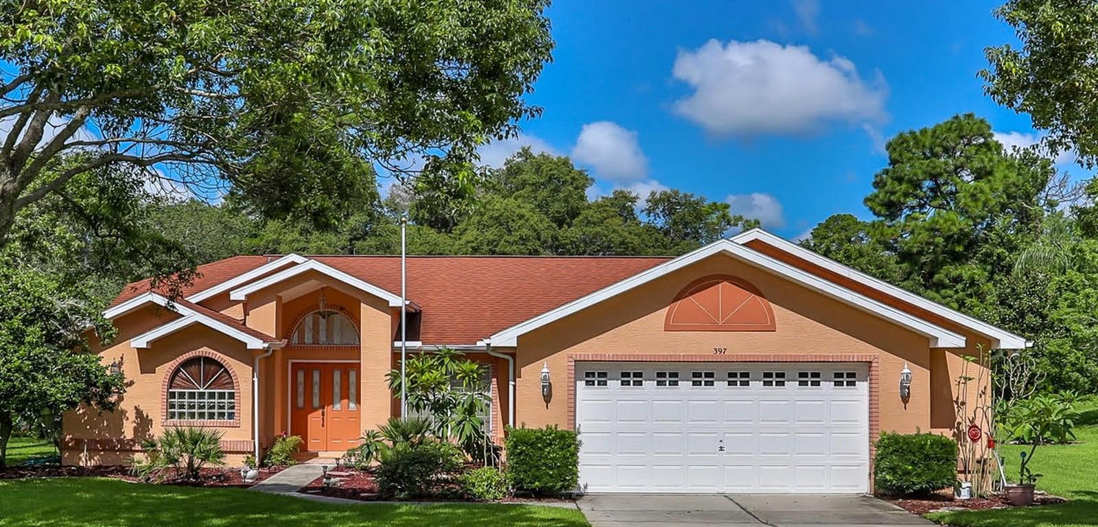 East Linden Estates - House with orange paint